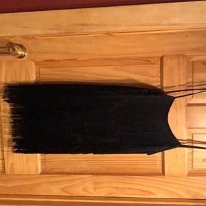 Black Tassel Mini Dress!